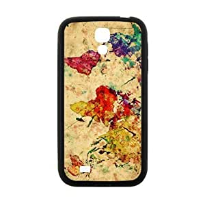 Watercolor world map Cell Phone Case for Samsung Galaxy S4