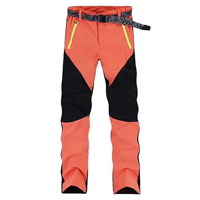 YiLianDa Pantaloni da Trekking Uomo Invernali Donna Arrampicata Pantaloni  Softshell All aperto Pantaloni Impermeabili 879df50702db