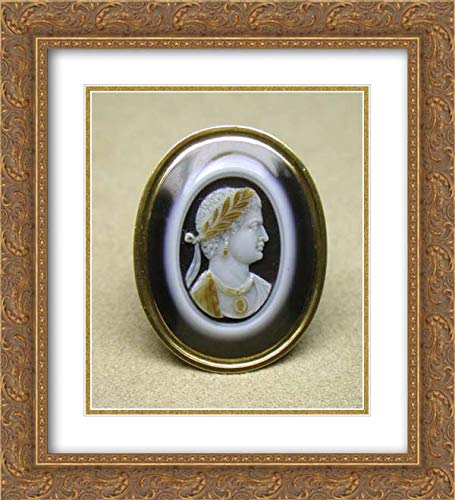 Roman Emperor Busts - Italian Culture - 20x22 Gold Ornate Frame and Double Matted Museum Art Print - Bust of a Roman Emperor