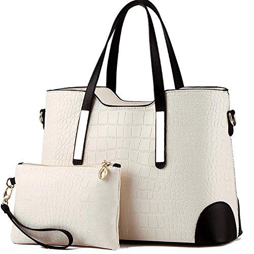 Women Hot Handbag PU Leather bags(white) - 6
