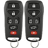 KeylessOption Keyless Entry Remote Control Key Fob Replacement for KBRASTU51 (Pack of 2)