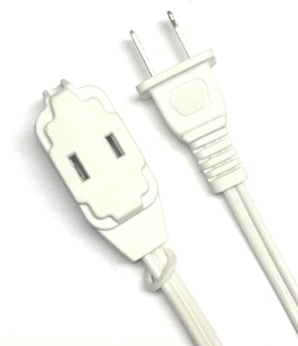 BRUFER 25363 2-Pack 16 AWG 3-Outlet White Indoor Extension Cord - 12
