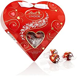 LINDOR Valentine Milk Chocolate Truffles Mini Gift Heart, 3.4oz