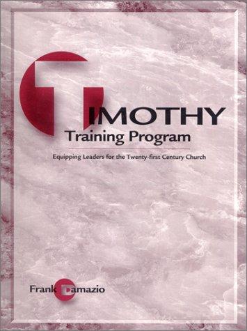 Timothy Training Program-Teacher Edition