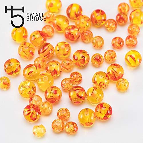 (Calvas 12mm Big Acrylic Plastic Beads Women DIY Accessories Jewelry Bracelet Perles Loose Round Ambar Beads Wholesale Q202 - (Item Diameter: 8mm)