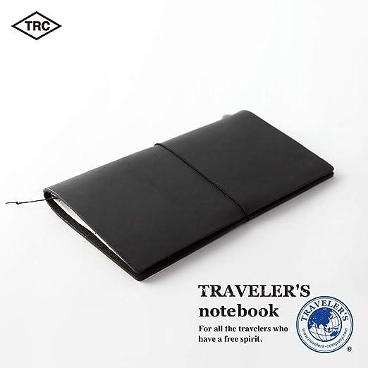 Amazon.com: Libreta negra de piel para viajeros Midori ...