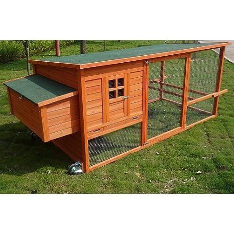 El Verde Mundo Gallinero Mueble de jardín para gallinas ponedoras | sebright XXL: Amazon.es: Jardín