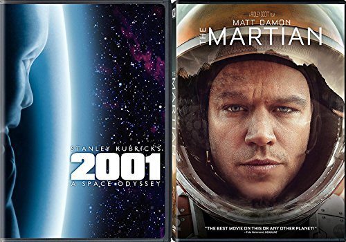 A Space Countdown DVD double Feature Sci-Fi 2001 Stanley Kubrick A Space Odyssey & The Martian Matt Damon Movie Set ()