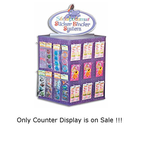 New Clear Interlocking Pegboard 4-sided Revolving Counter Translucent Display
