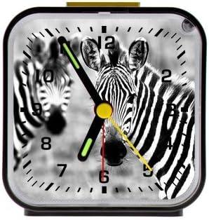 Special Cute Zebra,Savannah Animal Custom Square Black Alarm Clock