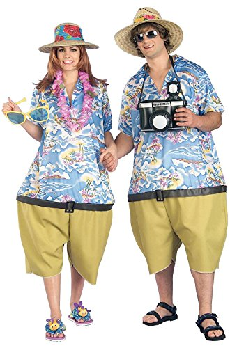 For Halloween Costumes Tourist (Forum Novelties Men's Couple's Fun Unisex Tropical Tourist Costume, Multi,)