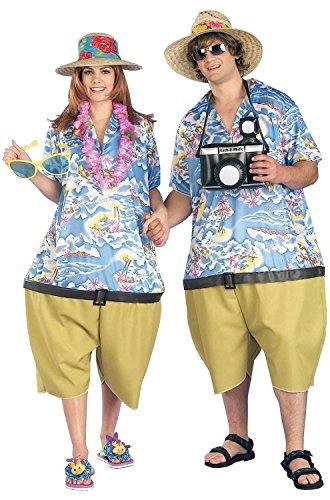 Forum Novelties Men's Couple's Fun Unisex Tropical Tourist Costume, Multi, Standard - Tourist Costume