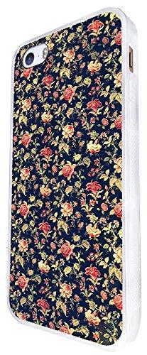 563 - Vintage Shabby Floral Roses Cute Design iphone SE - 2016 Coque Fashion Trend Case Coque Protection Cover plastique et métal - Blanc