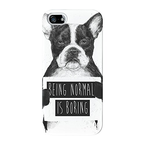 Being Normal Is Boring Full Wrap High Quality 3D Printed Case for iPhone 5 / 5s by Balazs Solti + FREE Crystal Clear Screen Protector