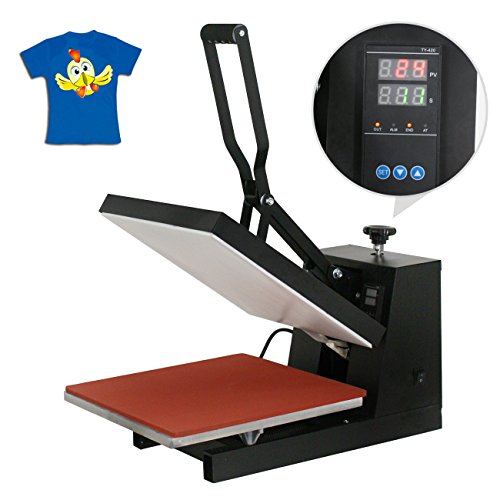 SuperDealUsa 15' X 15' Digital Heat Press Machine Clamshell Sublimation T-Shirt Transfer Machine, Black(15' X 15')