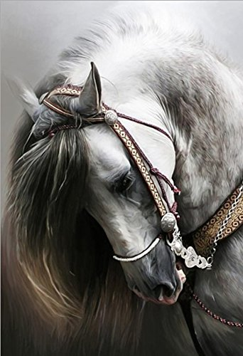 21secret 5D Diamond Diy Painting Full Round Drill Handmade Animal Portraits of Horse Head Cross Stitch Home Decor Embroidery Kit