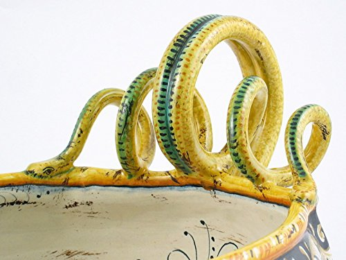 Handpainted Italian Ceramic 13-inch Centerpiece by A. Binaglia, Deruta by Alvaro Binaglia (Image #2)