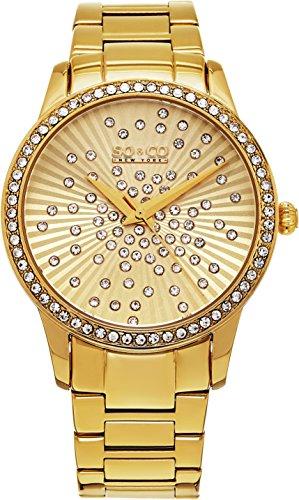 SO & CO New York 5239.3 Damen-Armbanduhr Analog Edelstahl beschichtet