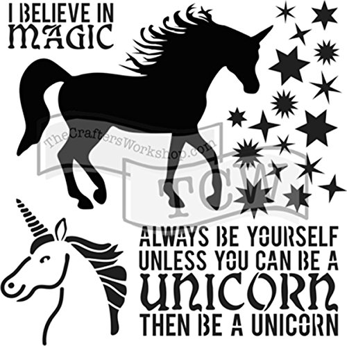 CRAFTERS WORKSHOP TCW738S Template 6X6-Unicorn