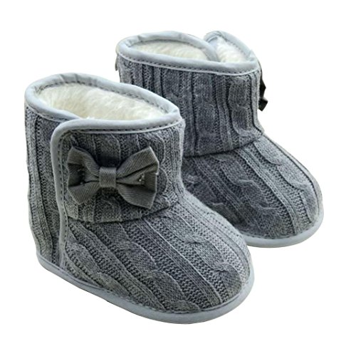 Baby Soft Sole Snow Crib Shoes Toddler Boots Pink - 9