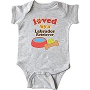 Inktastic - Labrador Retriever Loved By A Infant Creeper Newborn Heather Grey