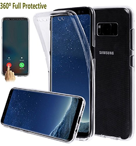 Price comparison product image Galaxy S8 Plus Case,  GreenElec 360 Degree Full Body Protective Shockproof Front and Back Transparent Soft Gel TPU Case Cover for Samsung Galaxy S8