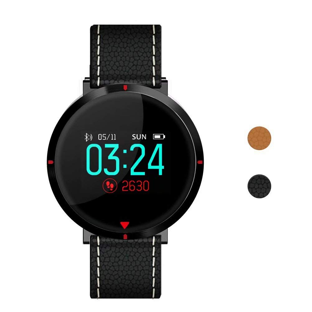 maxtop Smart Watches for Women - Heart Rate Monitor Blood Pressure Sleep Monitor Fitness Tracker Compatible with Android and iOS - Black by maxtop (Image #1)