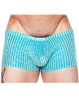 Male Power Men's Stripe Burnout Velvet Shorts