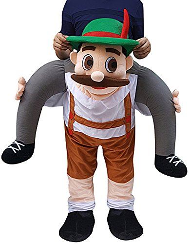 Creative Apparel Bavarian Oktoberfest Funny Piggyback, Ride-on Shoulder, Carry Me Costume for Adults, One Size
