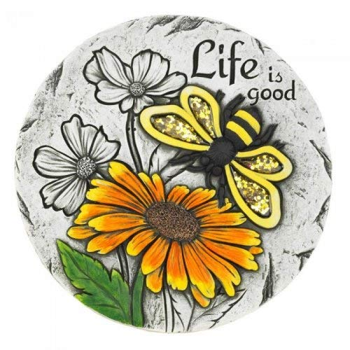 (Summerfield Terrace 10018535 Life is Good Sunflower Stepping Stone, Multicolor)