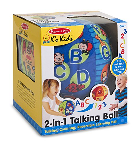 51QC7LadQXL - Melissa & Doug K's Kids 2-in-1 Talking Ball Educational Toy - ABCs and Counting 1-10