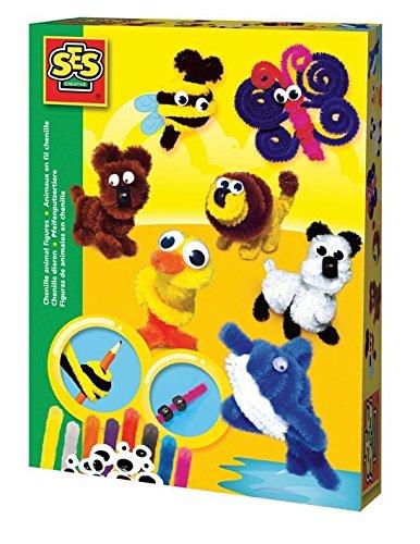 SES Creative Chenille Animal Figures Fun to Create (Chenille Animal)