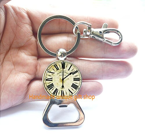 Steampunk Brass Gears Clock Watch Bottle Opener Keychain for sale  Delivered anywhere in Canada