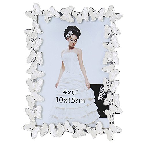 Giftgarden Friends Gift Butterfly Picture Frame 4x6 for Photo Display 4 by 6 Inch Metal