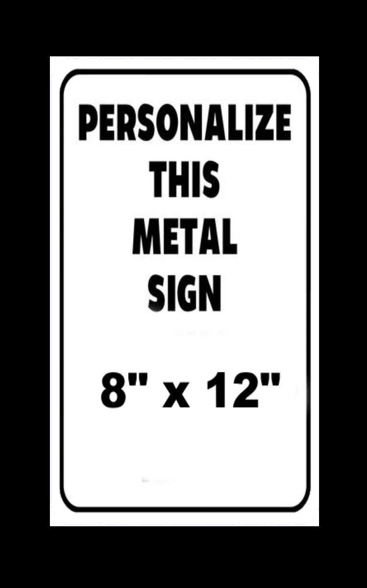 Personalizzabile con Testo e Immagine Cartello in Alluminio Personalizzato To243Finn