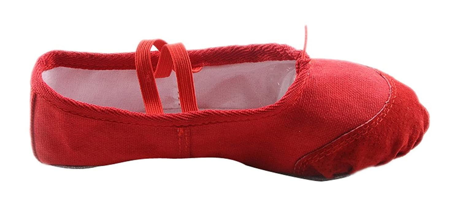 ACVIP Kid Dance Ballet Yoga Soft Shoes Red Color
