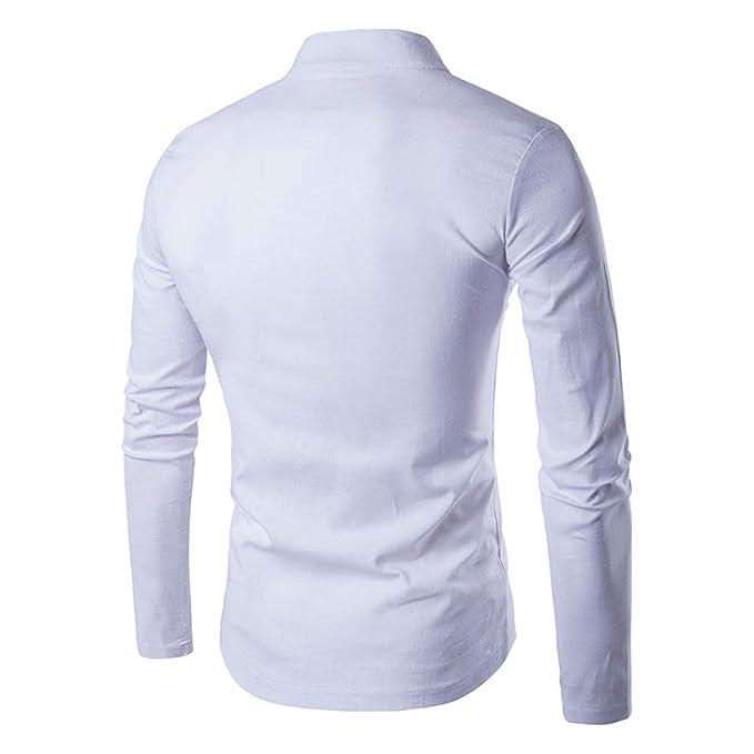 Amazon.com: Traje de hombre a la moda, estilo casual, cuello ...