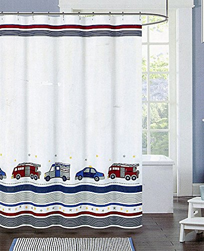 Authentic Kids Emergency Vehicle Shower Curtain by Authentic Kids