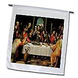 3dRose fl_130076_1 The Last Supper by Juan De Juanes Garden Flag, 12 by 18-Inch
