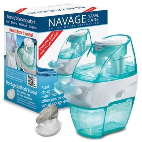 Navage Nasal Care Deluxe Bundle: Naväge Nose Cleaner, 48 SaltPod Capsules, Countertop Caddy, and Travel Case. 139.80 if purchased separately. You save 19.85 (Black)
