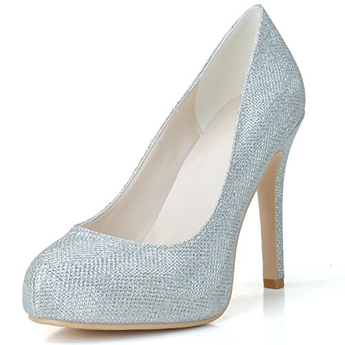 Da 6915 Pu Flash High Heels 03 P Bianco yc Donna Platform L Sposa Scarpe ET4q4g