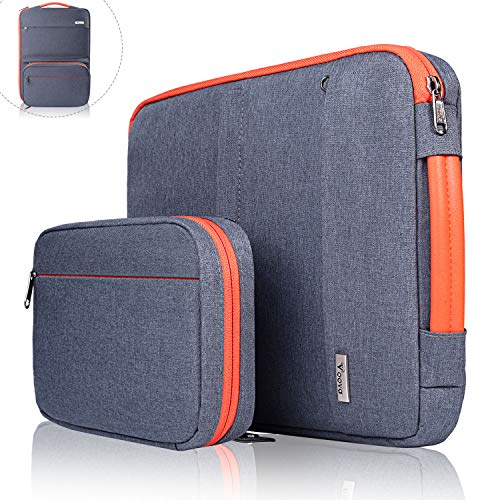 Voova 14-15.6 Inch Laptop Sleeve Bag Cover Special Design Waterproof Computer Protective Carry Case with Detachable Accessory Pocket Compatible with MacBook Pro Retina 15