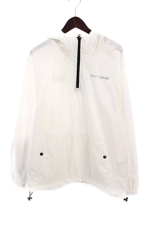 (シュプリーム) SUPREME 【17AW】【Packable Ripstop Pullover】パッカブルプルオーバーブルゾン(M/ホワイト) 中古 B07FR9LT1M  -