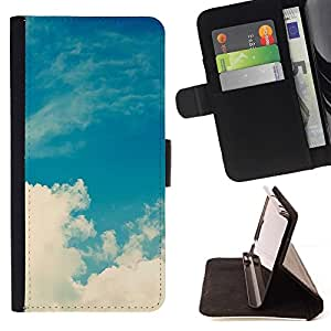 For Samsung Galaxy J3(2016) J320F J320P J320M J320Y Case , Sun Nubes de verano caliente- la tarjeta de Crédito Slots PU Funda de cuero Monedero caso cubierta de piel
