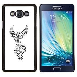 Stuss Case / Funda Carcasa protectora - Pájaro de Fuego Decal Minimalista Blanca - Samsung Galaxy A7 A7000