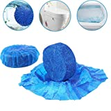 TAOtTAO 2PC Automatic Toilet Bowl Antibacterial Cleaning Tabs Cleaner Deodorizer Blue (5pc-4.5 * 1.7cm)