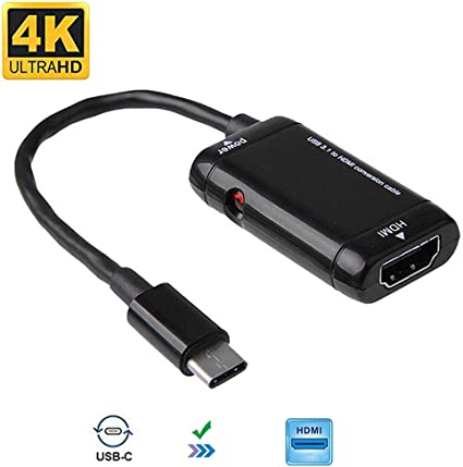 Type C USB 3.1 Male to MHL HDMI 1080P Female Adapter Cable For Android Phones