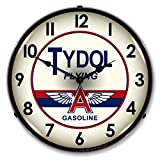 "Collectable Sign and Clock 1002241 14"" Tydol Lighted Clock"