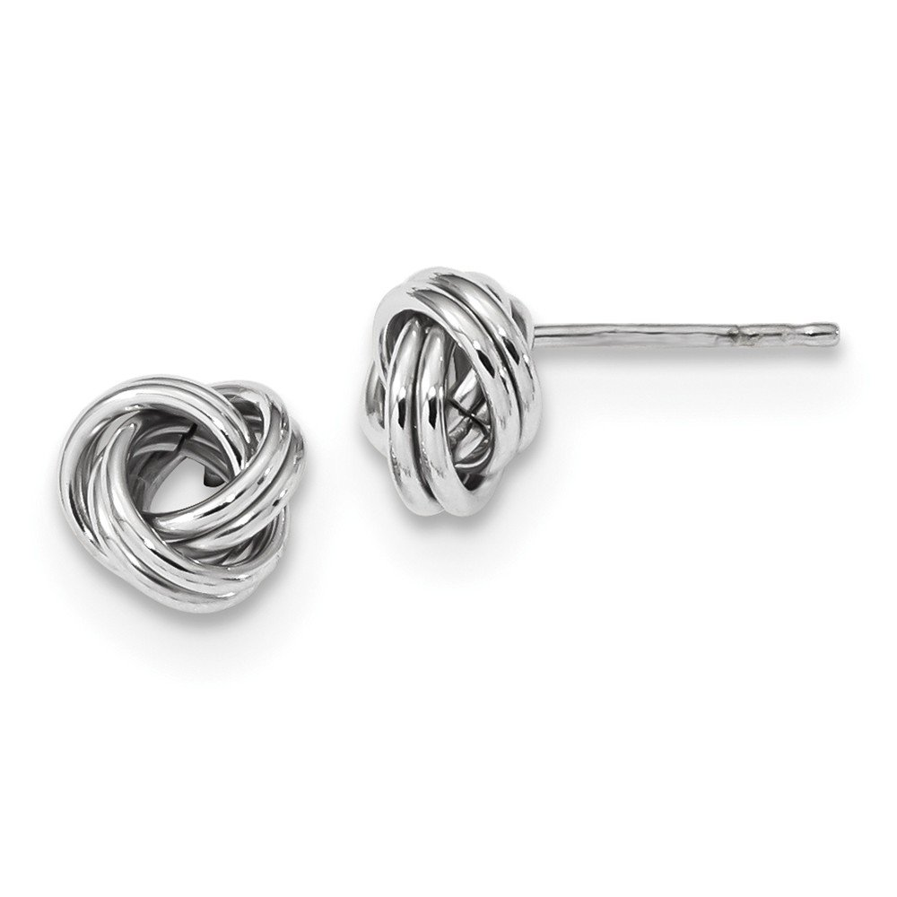 Top 10 Jewelry Gift 14k White Gold Polished Love Knot Post Earrings