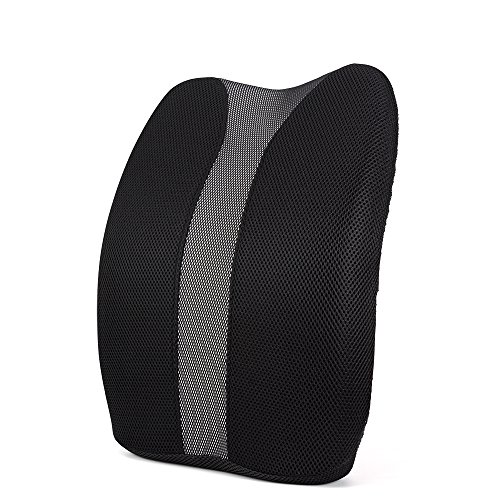 Lumbar Support Pillow for Office Chair Desk Car Seat Couch and Sofa, Ergonomic Memory Foam Cushion Relieves Lower Back Pain with Adjustable Straps by Mokeydou